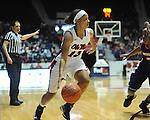 Ole MIss' Diara Moore (10) vs. Northwestern State in women's college basketball action in Oxford, Miss. on Friday, November 16, 2012. Ole Miss won 67-51.