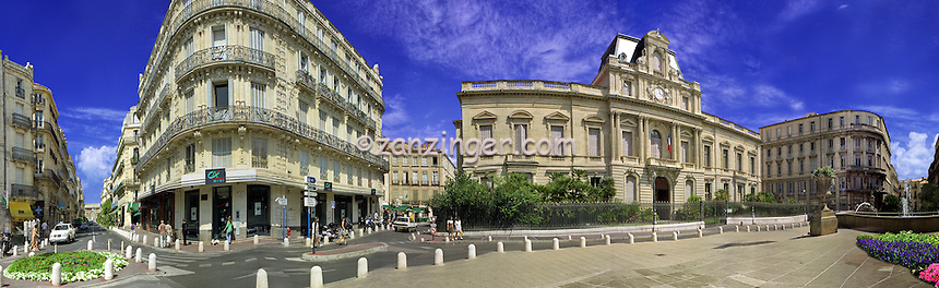Montpellier southern France CGI Backgrounds, ,Beautiful Background