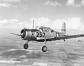 """The AT-6 advanced trainer, also known as a BT-13A,  was one of the most widely used aircraft in history. Evolving from the BC-1 basic combat trainer ordered in 1937, 15,495 Texans were built between 1938 and 1945.   In 1948, Texans still in United States Air Force (USAF) service were redesignated as T-6s when the AT, BT and PT aircraft designations were abandoned. To meet an urgent need for close air support of ground forces in the Korean Conflict, T-6s flew """"mosquito missions"""" spotting enemy troops and guns and marking them with smoke rockets for attack by fighter-bombers. .Credit: U.S. Air Force via CNP"""