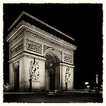 Arc de Triomphe, Paris, France at night