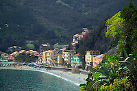Monterosso, Cinque Terre, Liguria, Italy, May 2005. Built against the steep cliffs of the Ligurian coast of Italy, lie the five villages of the Cinque Terre. Ancient hiking trails connecting the villages offer some of Italy's most spectacular views. Photo by Frits Meyst/Adventure4ever.com