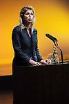 Nederland, Den Haag, 09-11-2009 Prinses Maxima spreekt op het MKB jaarcongres over micro financiering. Princess Maxima speaks at MKB congress Dutch lobby group for medium and small business, about micro finance .Foto: Gerard Til