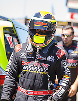 Jul 30, 2016; Sonoma, CA, USA; NHRA top fuel driver J.R. Todd during qualifying for the Sonoma Nationals at Sonoma Raceway. Mandatory Credit: Mark J. Rebilas-USA TODAY Sports