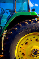 Farm tractor detail on Maui