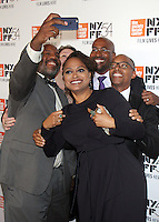 "NEW YORK, NY-September 30:William Jelani Cobb,Lisa Graves, Angelique Kidjo, Anthony Kapel Jones, Khalil Gibran Muhammed, at 54th New York Film Festival - Opening Night Gala Presentation And ""13th"" World Premiere at Alice Tully Hall at Lincoln Center in New York. September 30, 2016. Credit:RW/MediaPunch"