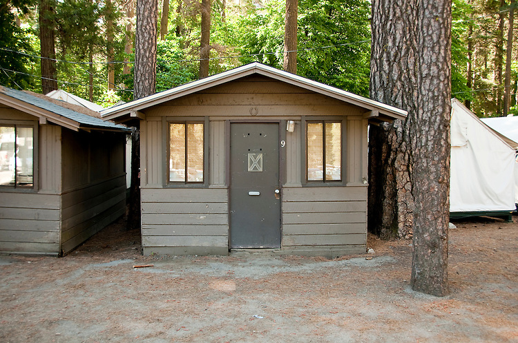 Tent Cabin Curry Village Yosemite Valley Pines