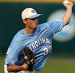 06/16/2006 University of North Carolina starting pitcher Andrew Miller during, game 2 of the College World Series in Omaha Nebraska Friday evening..(photo by  Chris Machian/Prairie Pixel Group)