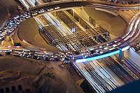 United Arab Emirates, Dubai, Sheikh Zayed Road, intersection under construction