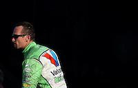 Feb. 15, 2013; Pomona, CA, USA; NHRA funny car driver Jack Beckman during qualifying for the Winternationals at Auto Club Raceway at Pomona. Mandatory Credit: Mark J. Rebilas-