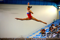 Daria Elizarova of Russia wins gold in women's juniors balance beam event final  at 2006 European Championships Artistic Gymnastics at Volos, Greece on April 30, 2006.  (Photo by Tom Theobald)