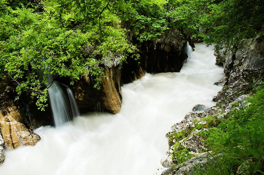 wild River Soca (&quot;Velika korita&quot;, &quot;Grand Canyon&quot;) after heavy rain<br /> Triglav National Park, Slovenia<br /> June 2009