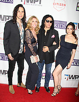 BEVERLY HILLS, CA - OCTOBER 21: Nick Simmons, Shannon Tweed, Gene Simmons, Sophie Simmons at the World Poker Tournament's Four Kings And An Ace Charity Event at Citizen in Beverly Hills, California on October 21, 2016. Credit: David Edwards/MediaPunch