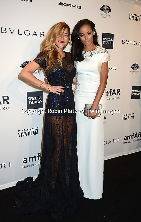 Gabriella Cadena and Selita Ebanks attend the amfAR New York Gala on February 5, 2014 at Cipriani Wall Street in New York City.