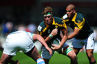 Cobus Wiese of South Africa U20 takes on the Argentina U20 defence. World Rugby U20 Championship 3th Place Play-Off between Argentina U20 and South Africa U20 on June 25, 2016 at the AJ Bell Stadium in Manchester, England. Photo by: Patrick Khachfe / Onside Images