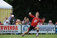 KAATSEN: BOLSWARD: 14-07-2013, Cornelis Terpstra (Koning) won de heren hoofdklasse wedstrijd met Tjisse Steenstra en Jacob Wassenaar, ©foto Martin de Jong