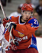 Nikita Klyukin (Russia - 21) - Russia defeated the Czech Republic 5-1 on Friday, January 2, 2009, at Scotiabank Place in Kanata (Ottawa), Ontario, during the 2009 World Junior Championship.