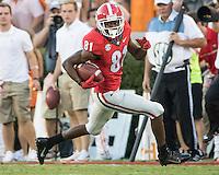 Athens, GA - October 1, 2016: The Georgia Bulldogs vs the Tennessee Volunteers at Sanford Stadium.  Final score Tennessee 34, Georgia 31.