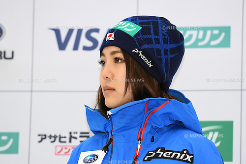 Sara Takanashi, <br /> NOVEMBER 1, 2016 - Ski Jumping :<br /> 2016/2017 SAJ Team Japan TAKE OFF Press Conference<br /> at SUBARU STAR SQUARE, Tokyo, Japan.<br /> (Photo by AFLO SPORT)