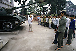 The Tank that crashed the gates of  Presidental Palace during the battle of Saigon is also on display in the Military Museum in Hanoi, North Vietnam. (Jim Bryant Photo).....