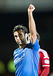 St Johnstone v Aberdeen...23.01.15   SPFL<br /> Simon Lappin salutes the fans at full time<br /> Picture by Graeme Hart.<br /> Copyright Perthshire Picture Agency<br /> Tel: 01738 623350  Mobile: 07990 594431