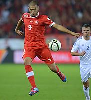 Fussball International  WM Qualifikation 2014   11.09.2012 Schweiz - Albanien Eren DERDIYOK (Schweiz)  am Ball