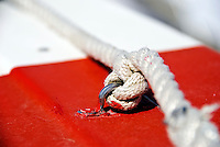 Nautical Knot on a boat in Alghero, Sardinia