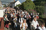 Hunting the Earl of Rone. Combe Martin Devon England.  2011.  The procession through the village.