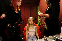 Backstage at the children's fashion show at the Palace Hotel in St Moritz. Switzerland.  It was a charity fundraiser for a hospital.<br /> Thomas Hahnloser-Recke.Zurich  01 211 98 37 .t.hahnloser@gassmann-made.ch.www.gassmann-mode.ch..Rahel Bigger-Murf.Palace Hotel.Via Serlas27.7500 St Moritz, Switzerland.43 81 837 10 00.rbigger@badruttspalace.com..Father of blond 4 yr old-older gentile couple grandparents?.Dr. med Peter Hasler .083 833 70 83 private in St Moritz.
