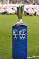 Sporting Park, Kansas City, Kansas, July 31 2013:<br /> MLS All-Star trophy.<br /> MLS All-Stars were defeated 3-1 by AS Roma at Sporting Park, Kansas City, KS in the 2013 AT &amp; T All-Star game.