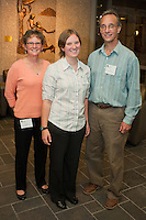 Alumni Executive Committee Reception. Stephanie Brooks, class of 2015, center, and parents.