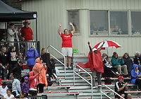 BOYDS, MARYLAND - July 21, 2012:  Fans of DC United Women at the end of the game against the Virginia Beach Piranhas during a W League Eastern Conference Championship semi final match at Maryland Soccerplex, in Boyds, Maryland on July 21. DC United Women won 3-0.