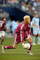 Sporting KC goalkeeper Jimmy Nielsen..Sporting Kansas City defeated Colorado Rapids 2-0 in Open Cup play at LIVESTRONG Sporting Park, Kansas City, Kansas.