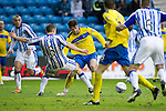 Kilmarnock v St Johnstone....03.03.12   SPL.Cillian Sheridan is brought down by Liam Kelly but the ref sends off Cillian Sheridan for diving.Picture by Graeme Hart..Copyright Perthshire Picture Agency.Tel: 01738 623350  Mobile: 07990 594431