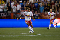 Thierry Henry (14) of the New York Red Bulls brings the ball upfield during the Barclays New York Challenge at Red Bull Arena in Harrison, NY.  Tottenham defeated the New York Red Bulls, 2-1.