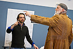 "Director Benjamin McGovern, left, works with renowned actor Stephen Yoakam during rehearsals for ""An Iliad"" at the Guthrie Theater, Thursday, April 18, 2013."