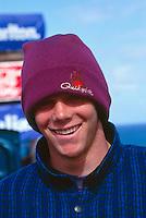 Shaun Brooks (AUS)  at his home break of Bells Beach during a Billabong Pro Jr. circa 1992.Photo:joliphotos.com