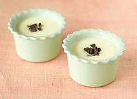 Vanilla pudding in ceramic bowls