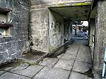 A concrete corridor