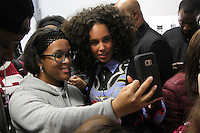 NEW YORK, NY - NOVEMBER 4: Alicia Keys surprise signing of her new Album Here Out Now at Best Buy in New York City on November 04, 2016. Credit: RW/MediaPunch
