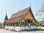 The main building of Wat Hosian Voravihane, a Buddhist temple and monastery in Luang Prabang, Laos