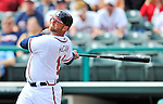 6 March 2012: Atlanta Braves catcher Brian McCann in action during a Spring Training game against the Washington Nationals at Champion Park in Disney's Wide World of Sports Complex, Orlando, Florida. The Nationals defeated the Braves 5-2 in Grapefruit League action. Mandatory Credit: Ed Wolfstein Photo