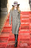 Mirte Maas walks runway in an outfit from the Tommy Hilfiger Fall 2011 Bohemian Prep collection, during Mercedes-Benz Fashion Week Fall 2011.