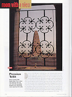 Cond&eacute; Nast Traveler (U.S. edition), June 2000, &quot;Room with a View&quot; feature.  <br />