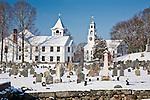 The town center in Sudbury, MA, USA