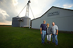 The Reinhard Farm in Bucyrus, Ohio..(Left to Right) Steve, mom Jean and Tim Reinhard on their family farm in Bucyrus.