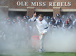 Ole Miss head coach Houston Nutt leads the team into the stadium at Vaught-Hemingway Stadium in Oxford, Miss. on Saturday, September 24, 2011. Georgia won 27-13.