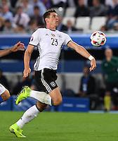 FUSSBALL EURO 2016 VIERTELFINALE IN BORDEAUX Deutschland - Italien      02.07.2016 Mario Gomez (Deutschland)