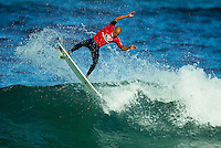 Kelly Slater (USA).Andy Irons (HAW) won the 2003 Rip Curl Pro Bells Beach Victoria defeating Joel Parkinson (AUS) in the final. The contest had to be moved to Johanna Beach, south west of Bells because of the lack of surf at the famous break  Photo: joliphotos.com.