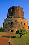 Asia, India, Sarnath. Dharmekh Stupa.