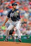12 April 2008: Atlanta Braves' pitcher John Smoltz in action against the Washington Nationals at Nationals Park, in Washington, DC. The Braves defeated the Nationals 10-2...Mandatory Photo Credit: Ed Wolfstein Photo